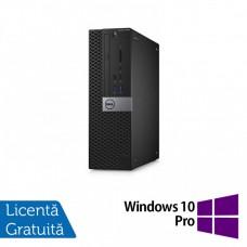Calculator DELL Optiplex 3040 SFF, Intel Core i3-6100 3.70GHz, 4GB DDR3, 500GB SATA, DVD-RW + Windows 10 Pro