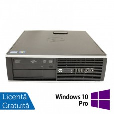 Calculator HP 8200 Elite SFF, Intel Core i7-2600 3.40GHz, 4GB DDR3, 120GB SSD, DVD-RW + Windows 10 Pro