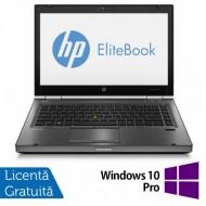 Laptop HP EliteBook 8470p, Intel Core i5-3320M 2.60GHz, 4GB DDR3, 120GB SSD, DVD-RW, 14 Inch, Webcam + Windows 10 Pro