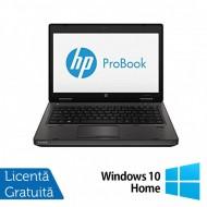 Laptop HP ProBook 6470B, Intel Core i3-3110M 2.40GHz, 4GB DDR3, 320GB SATA, 14 Inch, Fara Webcam + Windows 10 Home