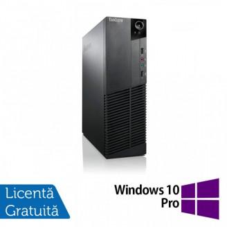 Calculator Lenovo Thinkcentre M83 SFF, Intel Core i3-4130 3.40GHz, 4GB DDR3, 250GB SATA + Windows 10 Pro