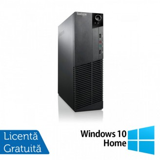 Calculator Lenovo Thinkcentre M83 SFF, Intel Core i3-4130 3.40GHz, 4GB DDR3, 250GB SATA + Windows 10 Home