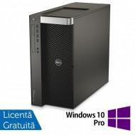 Workstation DELL Precision T7600, 2 x Intel Xeon Octa Core E5-2650 2.00GHz - 2.80GHz, 20MB Cache, 32GB DDR3 ECC, SSD 120GB + HDD 1TB SATA, RAID PERC H310, nVidia Quadro 2000 1GB + Windows 10 Pro