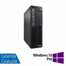 Calculator Lenovo Thinkcentre M73 SFF, Intel Core i7-4770 3.40GHz, 4GB DDR3, 500GB SATA, DVD-ROM + Windows 10 Pro