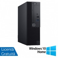 Calculator DELL OptiPlex 3060 SFF, Intel Gen 8 Hexa Core i5-8500 3.00GHz, 8GB DDR4, 240GB SSD, DVD-RW + Windows 10 Home