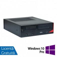 Calculator Fujitsu E520 SFF, Intel Celeron G1820 2.70GHz, 4GB DDR3, 250GB SATA, DVD-ROM + Windows 10 Pro