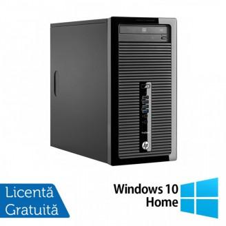 Calculator HP 400 G2 Tower, Intel Core i3-4130 3.40GHz, 4GB DDR3, 120GB SSD, DVD-RW + Windows 10 Home