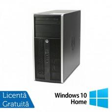 Calculator HP Compaq 6200 Pro Tower, Intel Core i3-2100 3.10GHz, 4GB DDR3, 500GB SATA, DVD-RW + Windows 10 Home