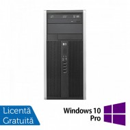 Calculator HP 6300 Pro Tower, Intel Pentium G640 2.80GHz, 4GB DDR3, 250GB SATA, DVD-RW + Windows 10 Pro