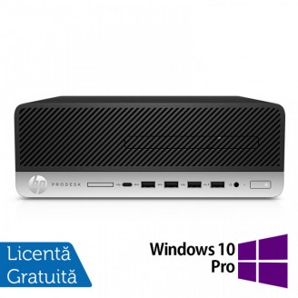 Calculator HP ProDesk 600 G3 SFF, Intel Core i3-6100 3.70GHz, 4GB DDR3, 500GB SATA, DVD-RW + Windows 10 Pro