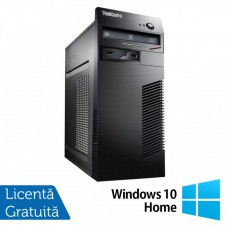 Calculator Lenovo ThinkCentre M71e Tower, Intel Core i5-2400 3.10GHz, 8GB DDR3, 120GB SSD + 500GB HDD, Placa video Gaming Geforce GTX 750/4GB GDDR5/128Bit, DVD-ROM + Windows 10 Home