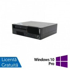 Calculator LENOVO Thinkcentre M91 USFF, Intel Core i5-2400 3.10GHz, 4GB DDR3, 500GB SATA + Windows 10 Pro