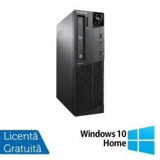 Calculator LENOVO Thinkcentre M91P SFF, Intel Core i5-2400 3.10GHz, 4GB DDR3, 250GB SATA, DVD-RW+ Windows 10 Home