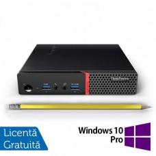 Calculator Mini PC Lenovo ThinkCentre M700, Intel Core i3-6100T 3.20GHz, 8GB DDR4, 120GB SSD + Windows 10 Pro