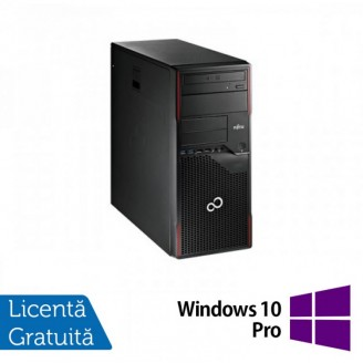 Calculator Fujitsu Esprimo P700 Tower, Intel Core i3-2100 3.10GHz, 4GB DDR3, 250GB SATA, DVD-ROM + Windows 10 Pro