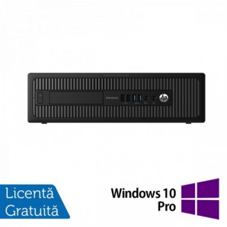Calculator HP Prodesk 600G1 SFF, Intel Core i3-4130 3.40GHz, 4GB DDR3, 500GB SATA, DVD-RW + Windows 10 Pro