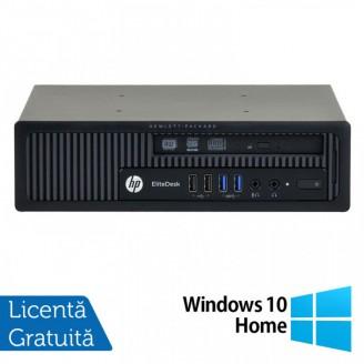 Calculator HP EliteDesk 800 G1 USDT, Intel Core i7-4770S 3.10GHz, 4GB DDR3, 500GB SATA + Windows 10 Home