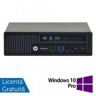 Calculator HP EliteDesk 800 G1 USDT, Intel Core i7-4770S 3.10GHz, 4GB DDR3, 500GB SATA + Windows 10 Pro