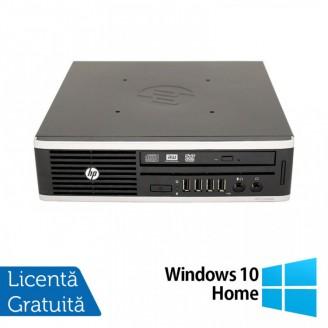 Calculator HP 8200 Elite USDT, Intel Core i3-2100 3.10GHz, 4GB DDR3, 500GB SATA, DVD-RW + Windows 10 Home