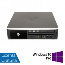 Calculator HP 8200 Elite USDT, Intel Core i3-2100 3.10GHz, 4GB DDR3, 500GB SATA, DVD-RW + Windows 10 Pro