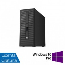 Calculator HP Prodesk 600G1 Tower, Intel Core i3-4130 3.40GHz, 8GB DDR3, 500GB SATA + Windows 10 Pro