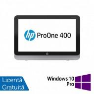 All In One HP Pro One 400 G1, 19.5 Inch 1600 x 900, Intel Core i3-4130T 2.90GHz, 4GB DDR3, 120GB SSD, DVD-RW + Windows 10 Pro