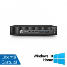 Calculator HP Prodesk 600 G2 Mini PC, Intel Core i5-6500T 2.50GHz, 4GB DDR4, 120GB SSD + Windows 10 Home