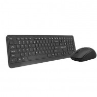 Kit Tastatura + Mouse Wireless Delux KA190G + M320GX, Negru