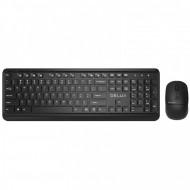 Kit Tastatura si Mouse DELUX, KA190+M320, wireless, 104 taste format standard, mouse , 3/1 butoane, negru