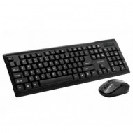 Kit Wireless Tastatura + Mouse  Combo, SPACER SPDS-1100, Plug&Play, Qwerty, USB, 1000 dpi, Negru