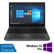 Laptop HP 6570b, Intel Core i5-3230M 2.60GHz, 4GB DDR3, 320GB SATA, DVD-RW, Fara Webcam, 15.6 Inch + Windows 10 Pro
