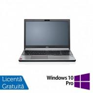 Laptop FUJITSU SIEMENS Lifebook E754, Intel Core i5-4200M 2.50GHz, 4GB DDR3, 120GB SSD, DVD-RW, 15.6 Inch, Tastatura Numerica, Fara Webcam + Windows 10 Pro
