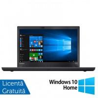 Laptop LENOVO ThinkPad T470p, Intel Core i7-7700HQ 2.80GHz, 16GB DDR4, 240GB SSD, 14 Inch Full HD, Webcam + Windows 10 Home