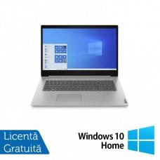 Laptop Nou Lenovo 3 17IML05, Intel Core i3-10110U 2.10GHz, 8GB DDR4, 1TB SATA, Bluetooth, Webcam, Platinum Gray, 17.3 Inch + Windows 10 Home