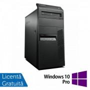 Calculator LENOVO ThinkCentre M81 Tower, Intel Pentium G620 2.60GHz, 4GB DDR3, 250GB SATA, DVD-RW + Windows 10 Pro