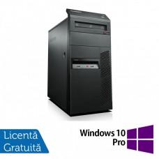 Lenovo ThinkCentre M81 Tower, Intel Core i3-2100 3.10GHz, 4GB DDR3, 500GB SATA, DVD-RW + Windows 10 Pro
