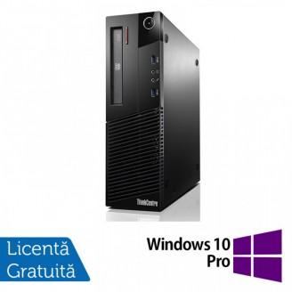 Calculator Lenovo Thinkcentre M93p SFF, Intel Pentium G3220 3.00GHz, 4GB DDR3, 500GB SATA, DVD-RW + Windows 10 Pro