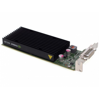 Placa video Nvidia Quadro NVS 300, 512MB DDR3, 64-bit, Low Profile + Cablu DMS-59 cu doua iesiri VGA