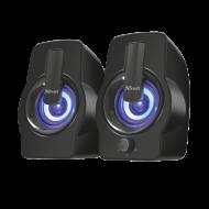 Boxe Stereo Trust Gemi RGB 2.0 Speaker Set - Black