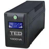 UPS TED Line Interactive 1300VA/750W, display LCD, 4 x Schuko