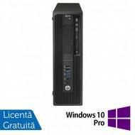 Workstation HP Z240 Desktop, Intel Xeon Quad Core E3-1230 V5 3.40GHz-3.80GHz, 16GB DDR4, SSD 120GB SATA, nVidia K620/2GB, DVD-RW + Windows 10 Pro