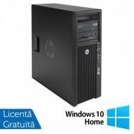 Workstation HP Z420, CPU Intel Xeon E5-1603 2.80GHz Quad Core, 16GB DDR3 ECC, 240GB SDD,  nVidia Quadro K2200/4GB GDDR5, DVD-RW + Windows 10 Home