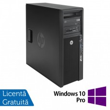 Workstation HP Z420, CPU Intel Xeon E5-1603 2.80GHz Quad Core, 16GB DDR3 ECC, 240GB SDD,  nVidia Quadro K2200/4GB GDDR5, DVD-RW + Windows 10 Pro