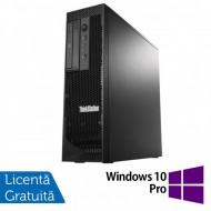 Workstation Lenovo ThinkStation C30 Tower, Intel Xeon E5-2620 V2 2.10 - 2.60GHz Hexa Core, 32GB DDR3, 480GB SSD + 2TB HDD, nVidia Quadro 410/512MB, DVD-RW + Windows 10 Pro